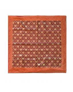 Ubrus na stůl, červený, mandala, brokát, 100x100cm