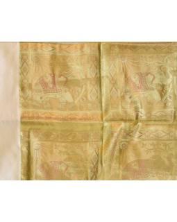 Ubrus na stůl, zlatý, sloni, brokát, 100x100cm