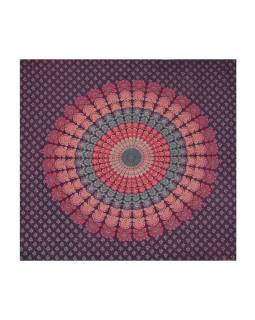 "Přehoz přes postel, ""Barmeri round"", mandala, 202x230cm"