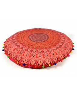 Meditační polštář, kulatý, 80x20cm