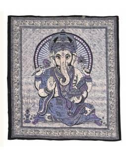 Přehoz na postel, Ganesh, fialový, 215x225cm