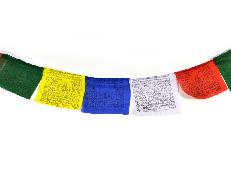 Modlitební praporky, 12x10cm, 10x prap., barevný tisk, bavlna