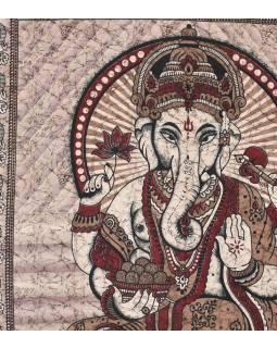 Přehoz na postel, Ganesh, červený, 215x225cm