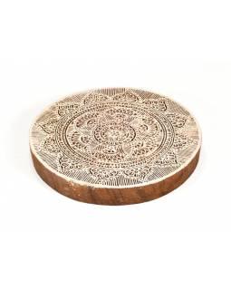 """Vyřezávané razítko """"Mandala"""", ruční práce, palisandr, 18cm"""