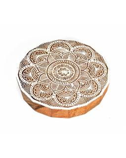 "Vvyřezávané razítko ""Mandala"", palisandr, 15cm"