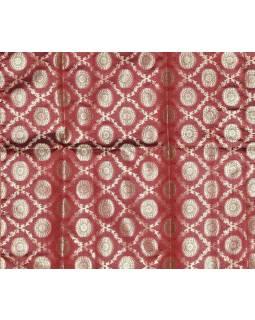 Ubrus na stůl, červený, brokát, 100x100cm