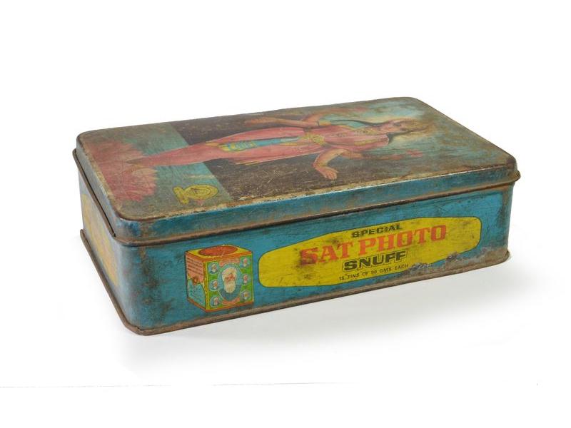 Antik plechová krabice, Laxmi, 22x13x6cm