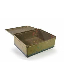 Antik plechová krabice, s gazelou