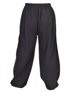 Unisex balonové kalhoty, elastický pas, černá