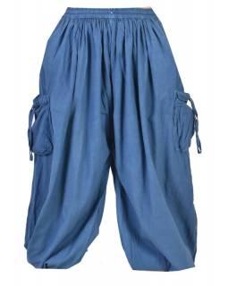 Unisex balonové kalhoty s kapsami, petrolejová