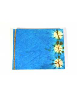 Tyrkysové album z ručního papíru, 33x41cm