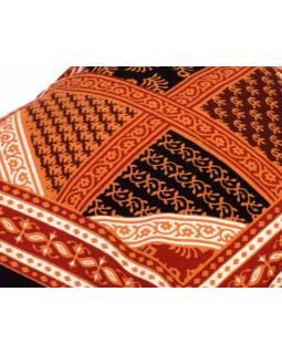Povlak na polštář, květinový vzor, prošívaný, 40x40cm