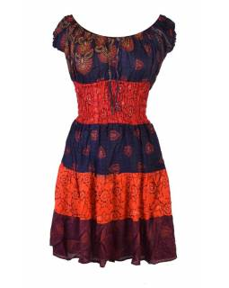 989ec3734142 Krátké červené šaty s potiskem