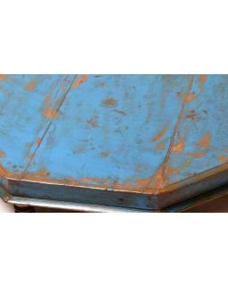 Starý čajový osmiboký stolek z teakového dřeva, 67x67x15cm