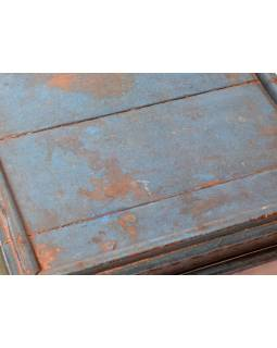 Starý čajový stolek z teakového dřeva, 44x44x19cm