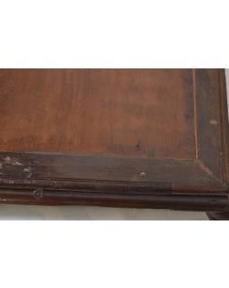 Starý čajový stolek z teakového dřeva, 60x48x12cm