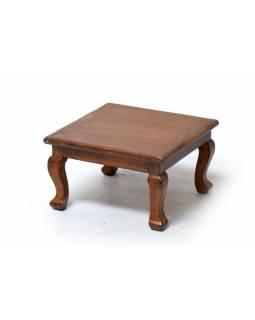 Čajový stolek z teakového dřeva, 32x32x19cm