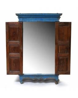 Zrcadlo v rámu ze staré okenice, 83x10x130cm
