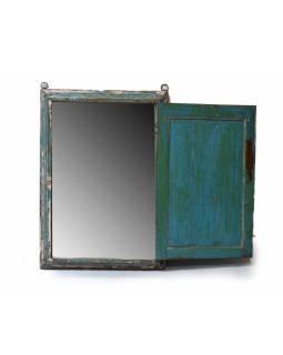 Zrcadlo v rámu ze staré okenice, 66x9x93cm