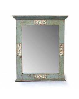 Zrcadlo v rámu z teakového dřeva zdobené dlaždicemi, 71x10x85cm