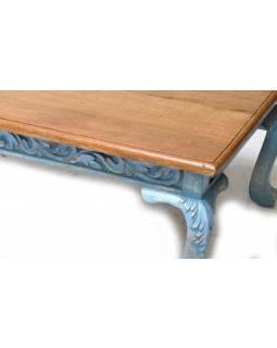 Stolek z mangového dřeva, ručně vyřezávaný, 120x68x44cm