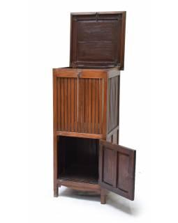 Prádelník z teakového dřeva, 56x56x123cm
