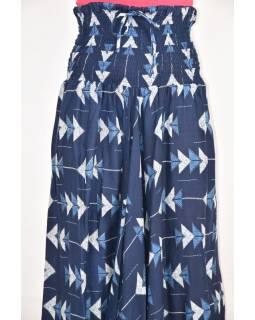Elegantní turecké kalhoty/overal s potiskem, tmavě modré