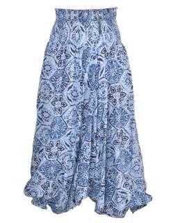 Elegantní turecké kalhoty/overal s potiskem, modré