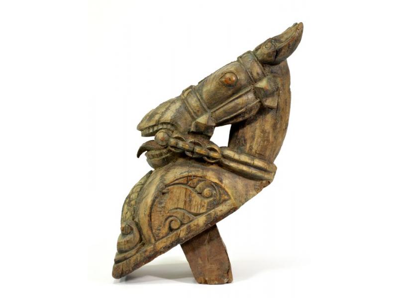 Hlava koně, antik, 12x30x40cm