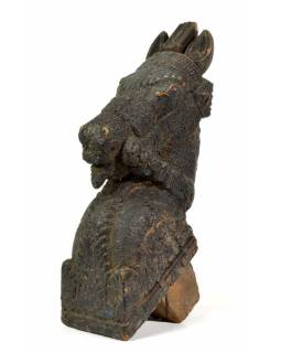 Hlava koně, antik, 13x27x45cm