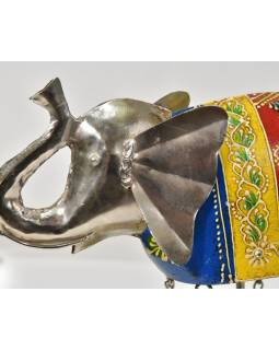 Soška slona se zvonečky, ručně malovaná, 32x9x25cm