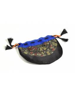 Sáček na malu, černý, zatahovací, art silk / bavlna bhutani