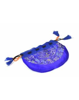 Sáček na malu, modrý, zatahovací, art silk / bavlna bhutani