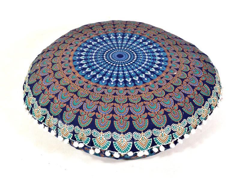 Meditační polštář, kulatý, 60x20cm