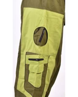 Unisex turecké kalhoty s kapsami, zelené