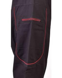 Unisex turecké kalhoty s kapsami, černé