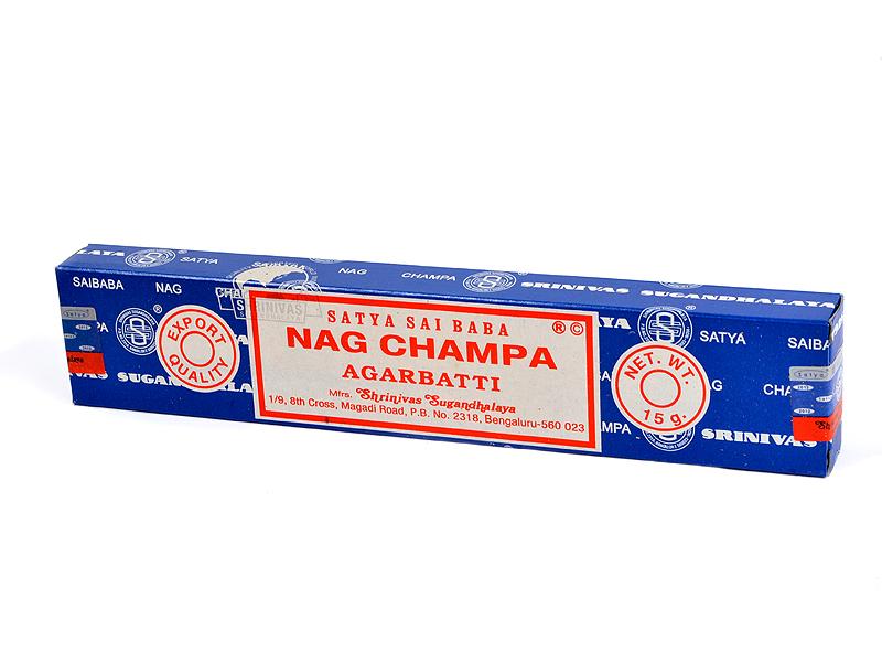 Indické vonné tyčinky Satya Sai Baba Nagchampa, 15g (original)