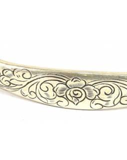 Stříbrný náramek s jemným designem, nastavitelná velikosti, AG 925/1000, Nepál