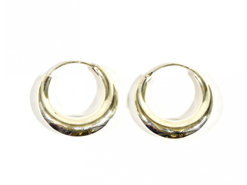 Visací stříbrné kruhové náušnice, průměr cca 3cm, AG 925/1000, Nepál