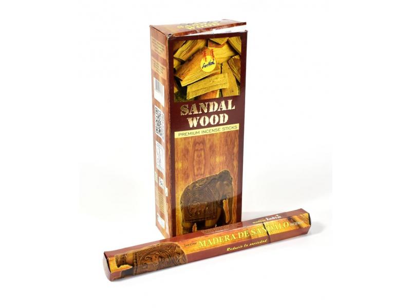 Vonné tyčinky, sandal wood, Sreevani, 22cm, 20ks