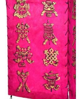 Stínidlo, čtyřboké, růžové se zlatým potiskem Astamangal, 18x25cm