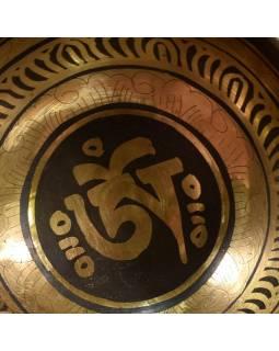 """Tibetská mísa, """"Gulpa"""", gravírovaná s designem, průměr 11 cm"""
