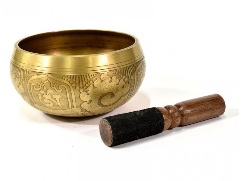 "Tibetská mísa, ""Gulpa"",  gravírovaný ornament, průměr 13 cm"