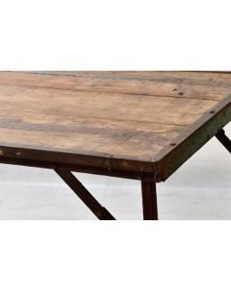 Rozkládací stůl z recyklovaného teakového dřeva, 181x76x77cm