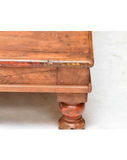 Čajový stolek z teakového dřeva, 58x58x20cm