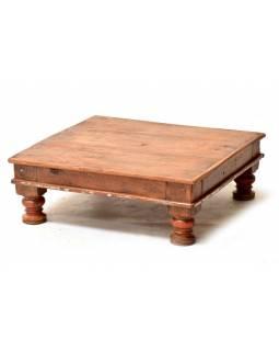 Čajový stolek z teakového dřeva, 57x57x22cm