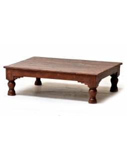 Čajový stolek z teakového dřeva, 77x62x22cm