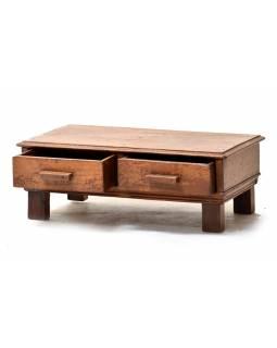 Nízký stolek z teakového dřeva, 61x37x22cm