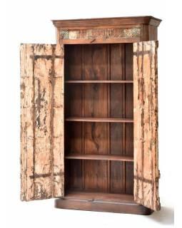 Šatní skříň z teakového dřeva, staré dveře,, 109x48x199cm