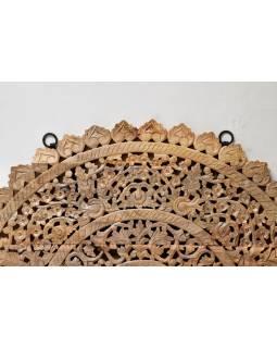 Ručně vyřezaná mandala z mangového dřeva, průměr 150cm